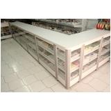 balcão de madeira para padarias