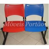 preço cadeiras fixas para escritório Mendonça